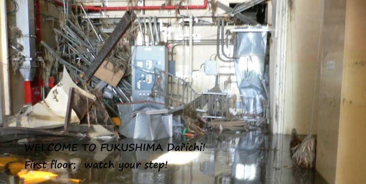 Watch your step at Fukushima..  Who knows what building it is?  It is a mess!